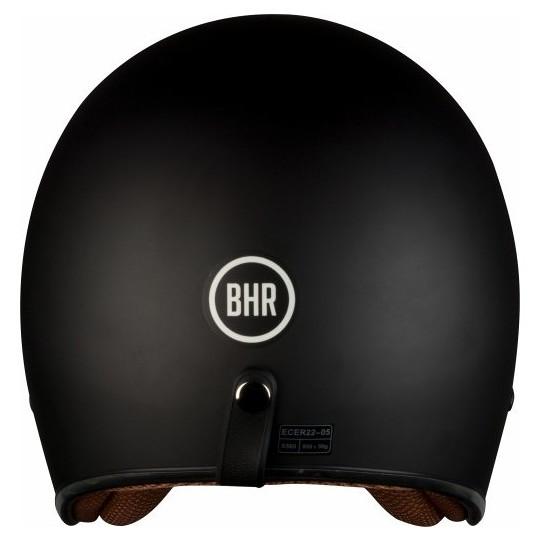 Casque de moto Jet Custom BHR 711 Mono Matt Black Three Buttons
