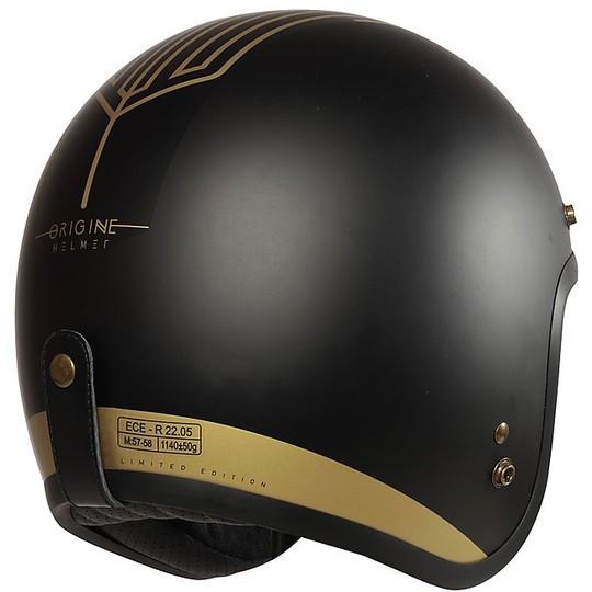 Casque de moto Jet Custom Origin PRIMO Limited Edition TEN Black + Bubble Smoked Visor