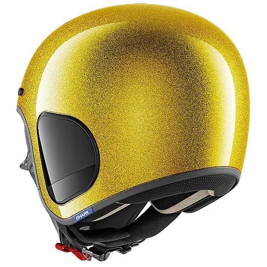 Casque de moto Jet Fiber Shark S-DRAK Blank Glitter Gold