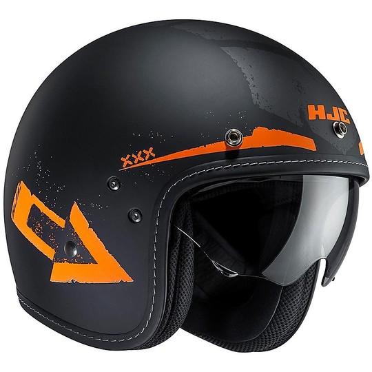 Casque de moto Jet HJC FG-70S en fibre Tales MC-7F noir orange
