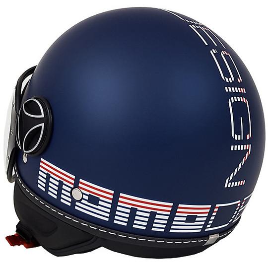 Casque de moto Jet Momo Design Fighter Classic Summer Edition