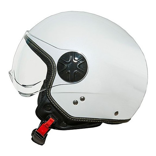 Casque de moto Jet One Fly Mono White Dôme Visor