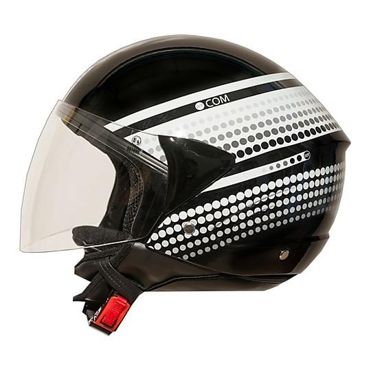 Casque de moto Jet One Micro Evo Black Rouleau de cou amovible Vega Black Entrez tous les tapis de selle