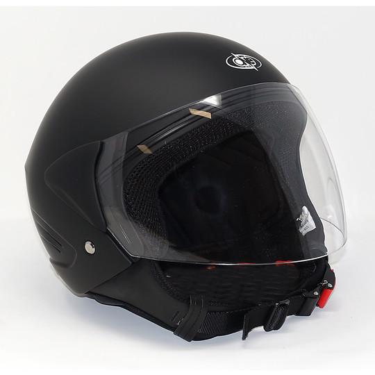Casque de moto Jet One Micro Evo Noir Rouleau de cou détachable Matt Entrez tous les tapis de selle