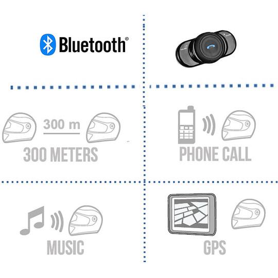 Casque de moto Jet Palio Origin 2.0 avec visière longue en titane mat Bluetooth