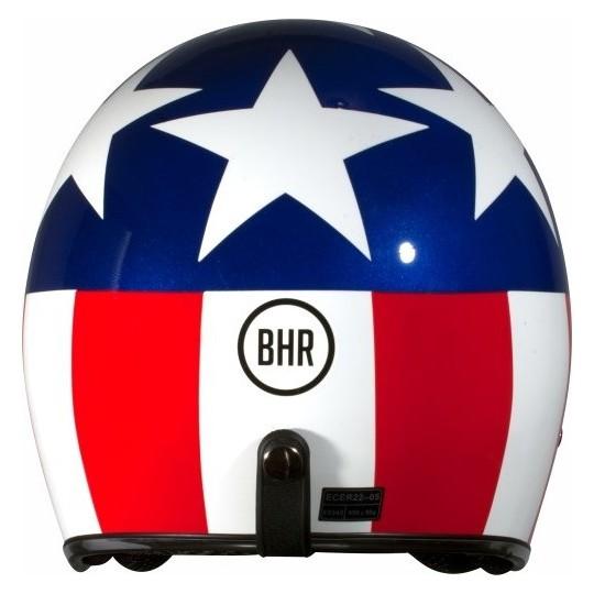 Casque de moto Jet personnalisé BHR 711 USA trois boutons