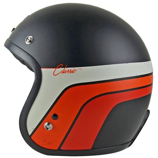 Casque de moto Jet personnalisé PRIMO CLASSIC VINTAGE Noir mat