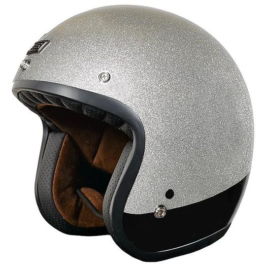 Casque de moto Jet personnalisé PRIMO COSMO Glossy Silver