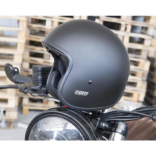 Casque de moto Jet personnalisé vintage en fibre Cgm 170 EVOKE noir mat