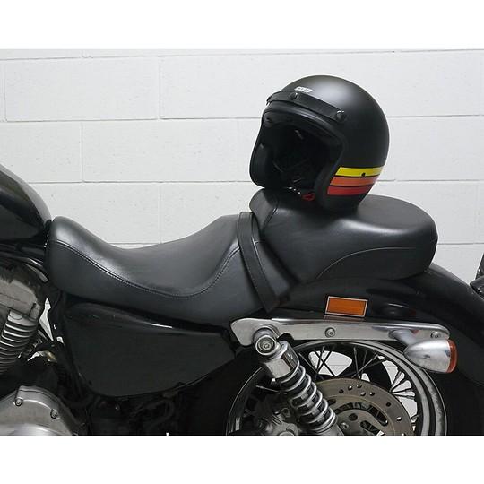 Casque de moto Jet personnalisé vintage en fibre Cgm 170 STRIKE noir mat