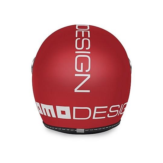 Casque de moto Jet pour enfant Momo Design JET-BABY rouge mat décalque blanc