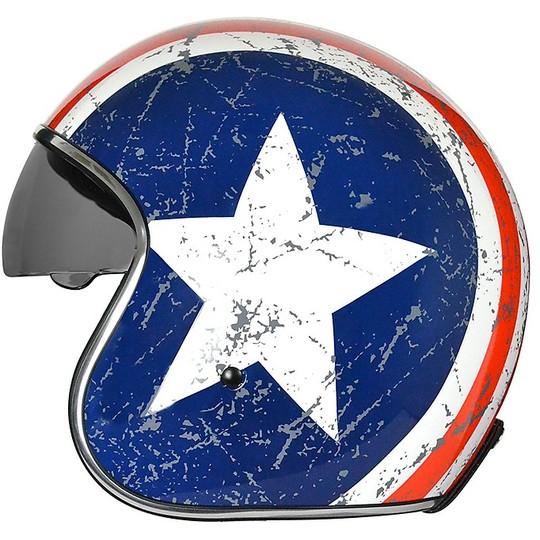 Casque de moto Jet Vintage origine Sprint Rebel Star visière intérieure