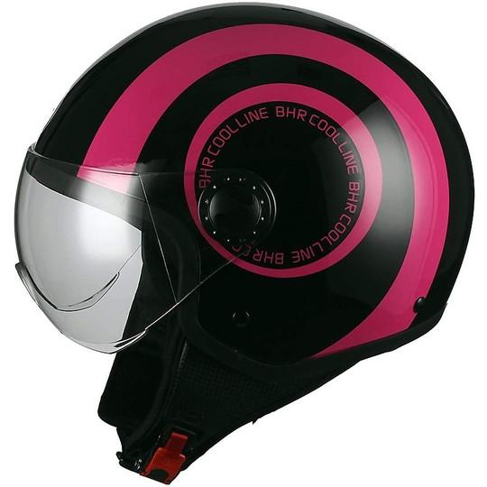 Casque de moto Jet Visor BHR 801 Cool Line B Fuxia