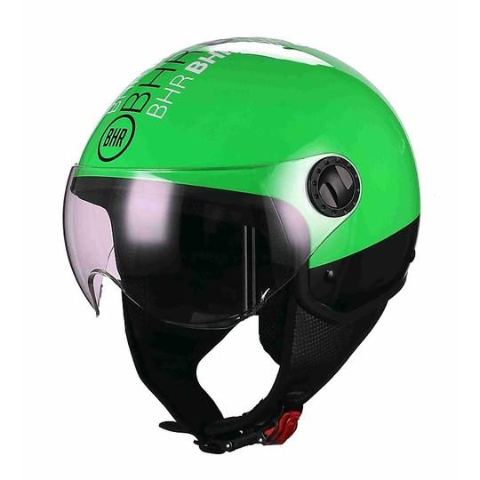 Casque de moto Jet Visor BHR 801 Style Green