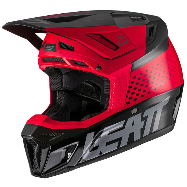 Casque de moto Leatt 8.5 V21.1 Cross Enduro noir rouge