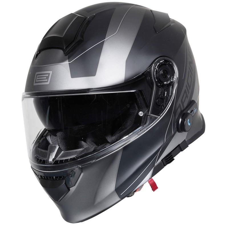Casque de moto modulable avec Bluetooth Origin DELTA BT Spike Matt Titanium Black