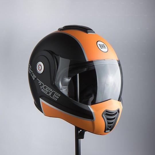 Casque de moto modulable BHR 807 REVERSE Orange mat