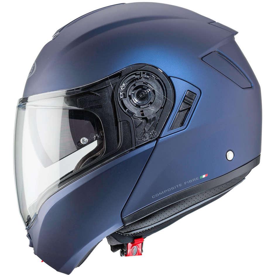 Casque de moto modulable en fibre Caberg LEVO bleu Yamaha Approved P / J