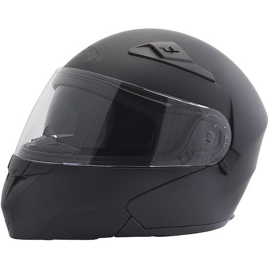Casque de moto modulable Stormer TURN Uni Matt Black