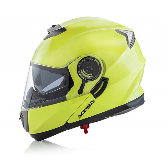Casque de moto modulaire Acerbis Double Visor Serel Fluo Yellow