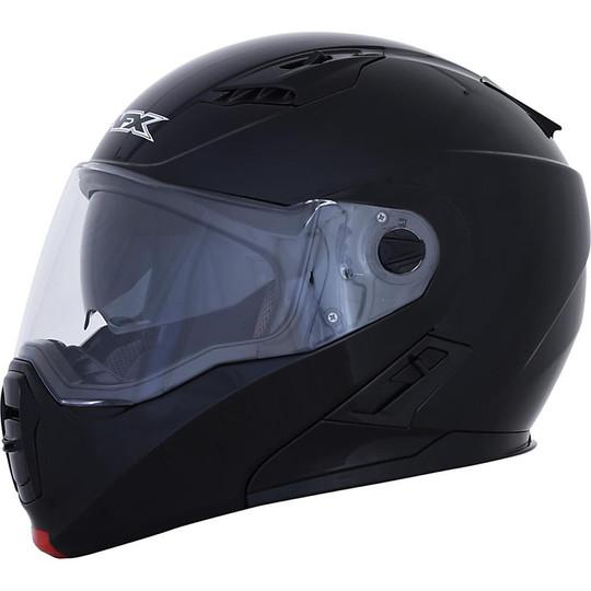 Casque de moto modulaire Afx FX-111 Double Visor Mono Glossy Black