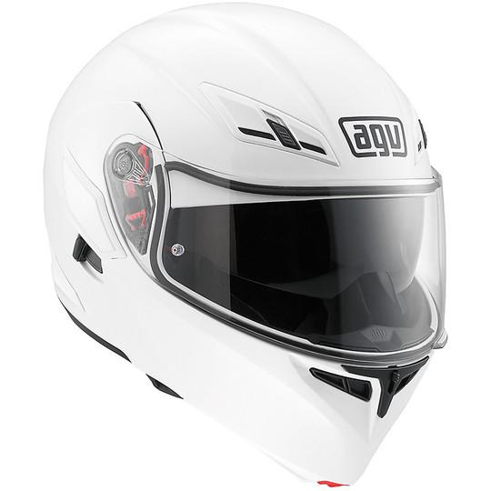 Casque de moto modulaire Agv Compact ST Double Homologation Mono Blanc