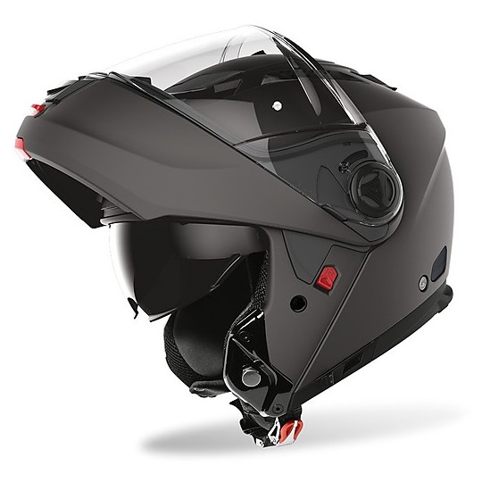Casque de moto modulaire Airoh Phantom SP / J avec couleur Pinlock Anthracite Matt