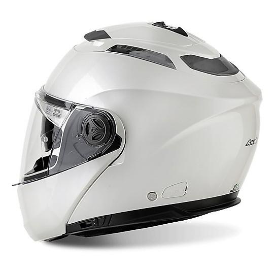 Casque de moto modulaire Airoh Phantom SP / J avec couleur Pinlock Blanc brillant