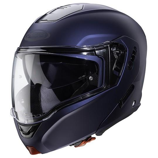 Casque de moto modulaire approuvé P / J Caberg HORUS Bleu Matt Yama