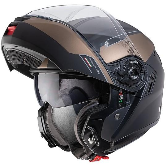 Casque de moto modulaire approuvé P / J Caberg LEVO PROSPECT Black Matt Bronze
