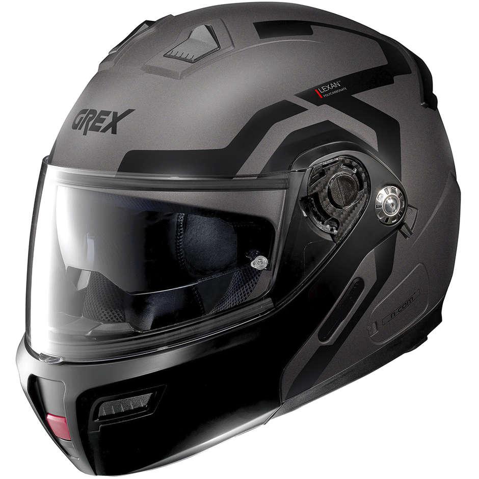 Casque de moto modulaire approuvé P / J Grex G9.1 Evolve CROSSROAD N-Com 040 Lava Grey Opaco