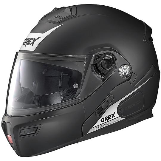 Casque de moto modulaire approuvé P / J Grex G9.1 Evolve VIVID N-Com 035 noir mat blanc