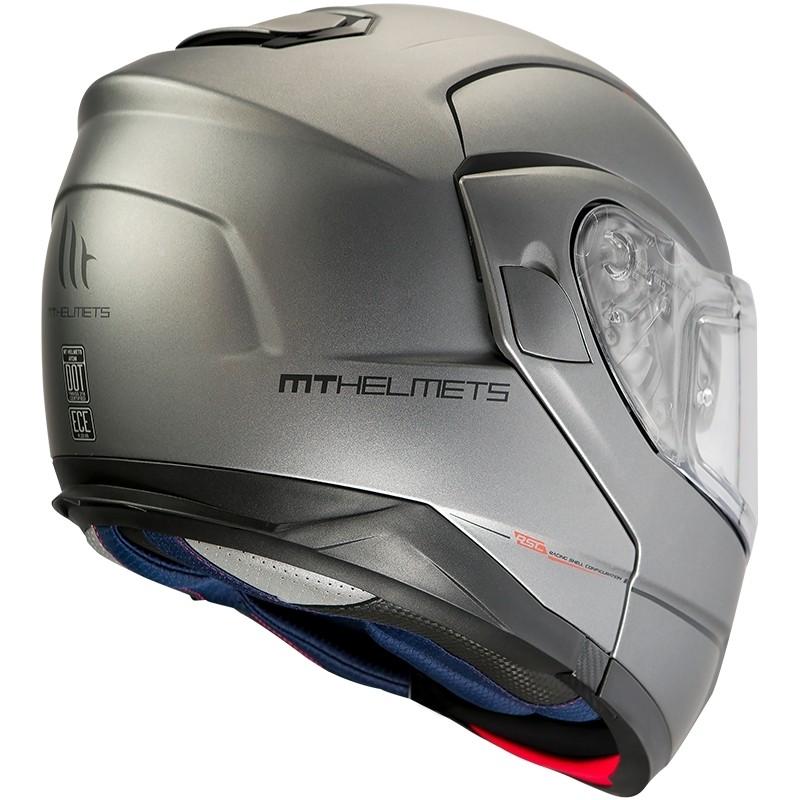 Casque de moto modulaire approuvé P / J Mt Casque ATOM SV Solid Matt Grey