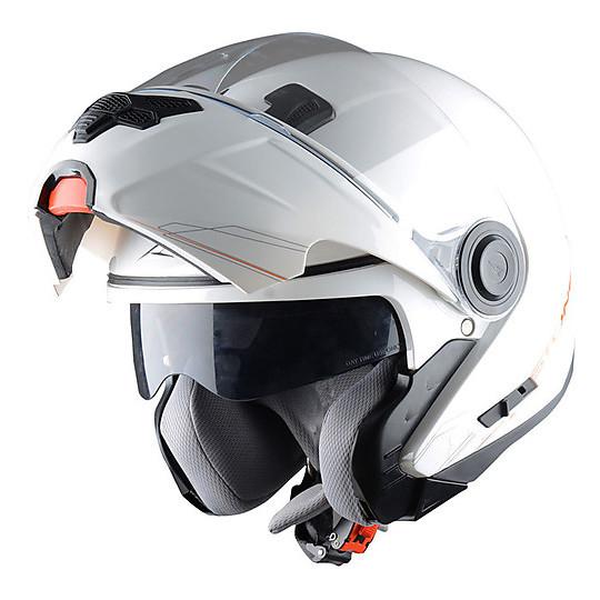 Casque de moto modulaire Astone RT800 Shadow White
