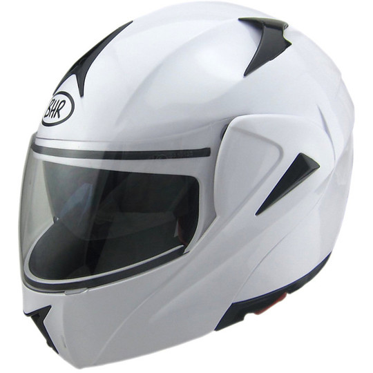 Casque de moto modulaire BHR 705 Sport Double Visor Blanc