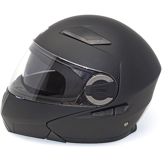 Casque de moto modulaire CGM 505 New Singapore Matt Black