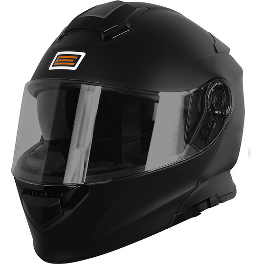 Casque de moto modulaire DELTA Basic SOLID Matt Black