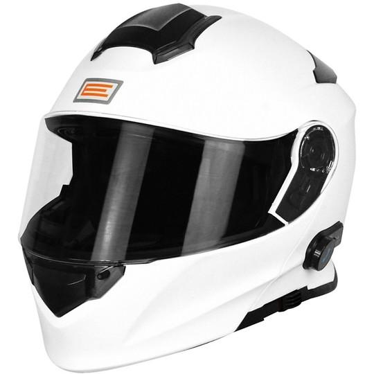 Casque de moto modulaire Delta Origin avec Bluetooth intégré blanc