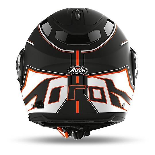 Casque de moto modulaire Double Homologation P / J Airoh PHANTOM S Beat Matt Orange
