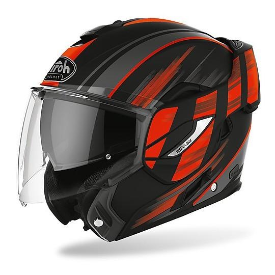 Casque de moto modulaire Double Homologation P / J Airoh REV 19 Ikon Matt Orange