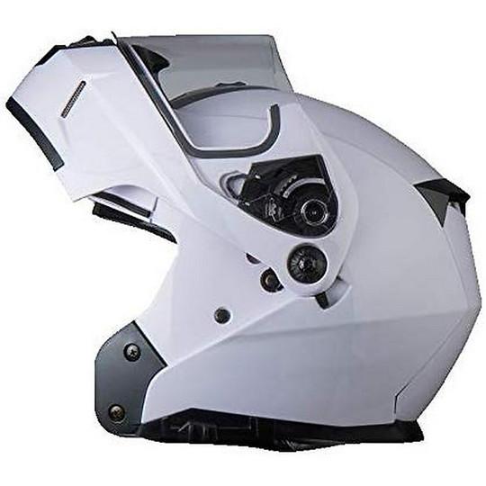 Casque de moto modulaire double visière BHR 805 POWER Blanc