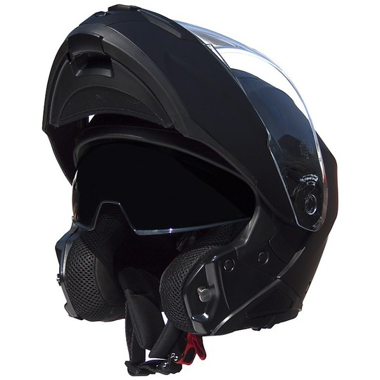 Casque de moto modulaire Double Visor Premier 2017 Genius U9 BM Matt Black