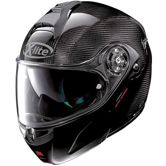 Casque de moto modulaire en carbone X-Lite X-1004 Ultra Carbon DYAD N-Com 001 Carbon Matt Chin Guard