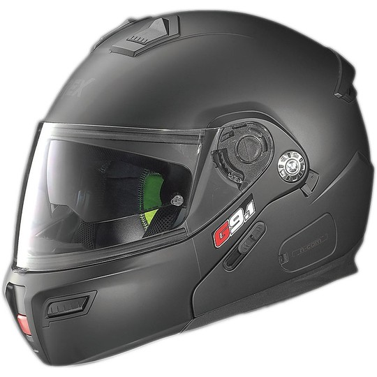 Casque de moto modulaire Grex G9.1 Evolve Kinetic N-COM Matt Black