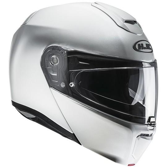 Casque de moto modulaire HJC Rpha 90 Ryan Pearl White