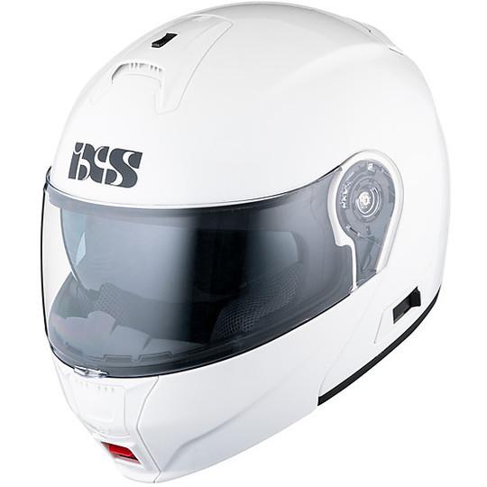 Casque de moto modulaire IXS HX 325 Blanc brillant