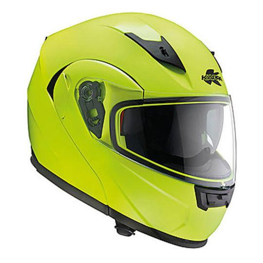 Casque de moto modulaire KAPPA KV12 Nevada Neon Yellow