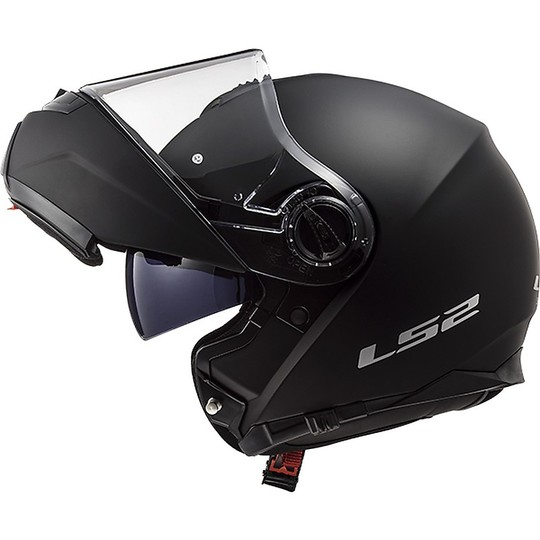 Casque de moto modulaire LS2 Double Visor FF 325 Strobe Matt Black