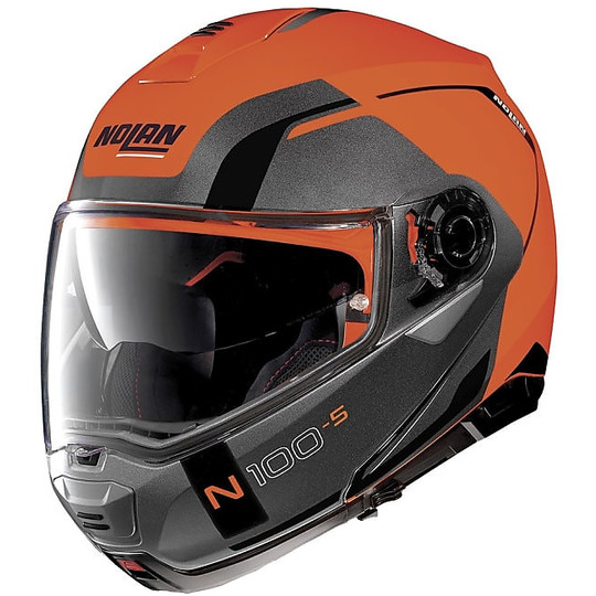 Casque de moto modulaire Nolan N100.5 Consistency N-Com 027 Flat Led Orange