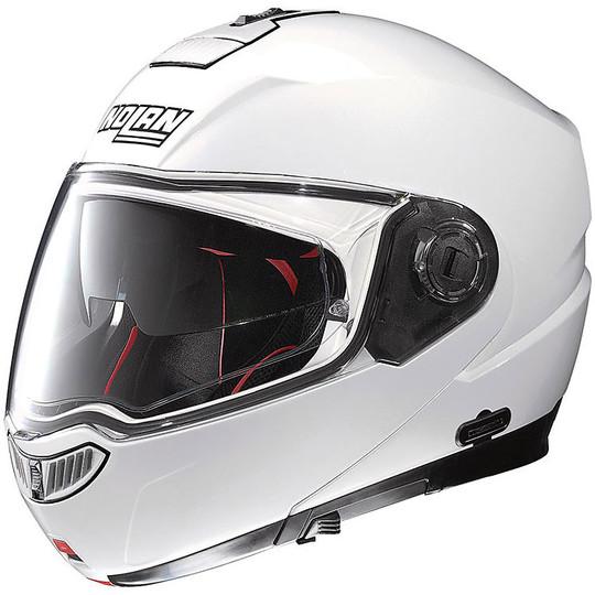 Casque de moto modulaire Nolan N104 Absolute Classic N-COM 05 Glossy White